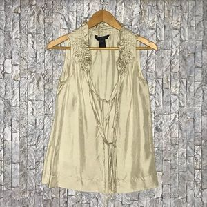 Marc By Marc Jacobs Silk Collar Ruching Blouse